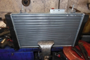 2017 Ny radiator settes i stilling