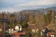 Vi har sol og pent vær, men det spørs om solen har gått ned når vi kommer til Maridalen