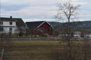 Nå nærmer vi oss Skjerven gård hvor det alltid er mange hester