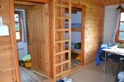Mandag - hytta var fin inni også, passe god plass