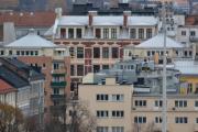 De to tårnene tilhører Frydenlundgata 5 og 7, og det store huset i midten tilhører Schwensens gate 6 hvor blant annet St. Hanshaugen skole som flyttet ut i 1917 var