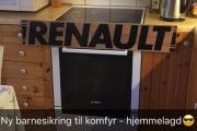 Vi tar med oss Renault barnesikring på turen, kanskje vi for solgt den? Var i utgangspunktet ikke til salgs da.