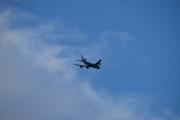 Selv passasjerflyene, flyr i lav høyde over Ekeberg i kveld