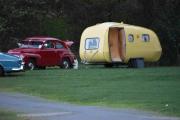 Ikke så mange, men denne campingvognen på Volvoplassen var kjempe tøff da