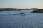 Sikkert en turistbåt som går fram og tilbake