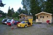 Ankomst Villingsbergsgårdens camping og Martin og Amanda tok oss igjen underveis. Vi kom fem minutter før de stengte, slå den
