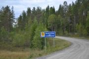Ikke mange meterne mellom kommunene her nei, nå er vi i Nord-Odal kommune