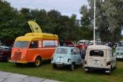 3 lett gjenkjennelige Renault-er foran oss, de bilene har vært med på masse
