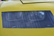 Stikkordet er frontlyktene på en Renault Alpine, vi hadde to stykker men bare en lot seg ta bilde av
