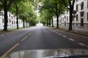 Nå skal vi til Kampen hvor neste telefonkiosk står, vi kjører ned Colletts gate som er oppkalt etter grosserer John Collett og statsråd Jonas Collett i 1871
