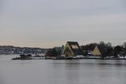 Vi har fin utsikt mot Fram museet også fra broen
