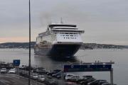 Nå kommer Kiel båten vår som vi skal på tur med