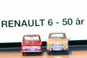 Vår første tur i regi Renault 6 - 50 års jubileum, enda en gang dreies bilene men vi oppdaget ikke før etterpå at panseret kunne åpnes på den ene