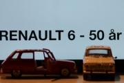 Vår første tur i regi Renault 6 - 50 års jubileum, bilene dreies og et par sidedører åpner seg