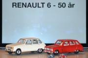 Vår første tur i regi Renault 6 - 50 års jubileum, spotter blir satt på og synet av disse pene bilene blir blendene