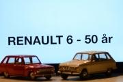Vår første tur i regi Renault 6 - 50 års jubileum, vi lar oss synke ned i stolene og bokstavene senkes ned