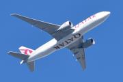 Morten 21 september 2019 - Stort fly over Ekeberg som er et Qatar Cargo A7-BFA av typen Boeing 777-FDZ
