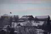 Her fikk jeg også med meg flagget på festningen i Kongsvinger