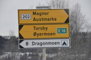 Her skal vi ta til venstre, mot Torsby