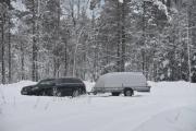 Vel vi er på parkeringsplassen og skulle ha ringt når vi var ved Varmlandsporten. Men hvor var Varmlandsporten? Så vi ringer nå vi