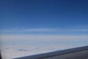 Et jetfly i det fjerne, hadde det ikke vært for vingen kunne vi ha hvert på Nordpolen