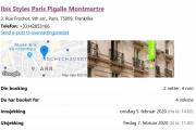 Hotellet vi skal ligge på heter Ibis Styles Paris Pigalle Montmartre og har adressen 3, Rue Frochot, 9. arrondissement – Opéra, 75009