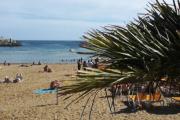 Fra en av de reisende, de koser seg på stranden nå