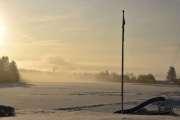 Neste stoppe sted er Sanngrund, men her var det ikke mye å se idag og så kaldt