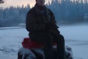 Som dere ser er ikke dette tull, Knut ER Maridalens vokter og her sitter han på en av sine turer i 2008