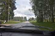I begynnelsen kjører vi på asfalterte veier og det syns jeg er betryggende
