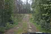 Egentlig burde man ha traktor når man kjører på denne veien, men bilen klarer brasene