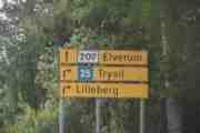 Vi har havnet på riksvei 207 og kjører i retning Elverum