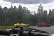 En av bilene som kommer ut ser jeg er en Ford Mustang fra 1973, skal vi på et veterantreff for Ford?