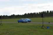 Bilen til høyre er litt foran