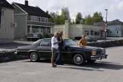 Vi har beregnet oss god tid så vi er veldig tidlig ute. Men da kan vi presentere de som allerede står her. Dette er en Oldsmobile Delta 88 Royal D, 1979 modell.