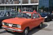 Har jeg tatt denne før? Opel Kadett, 1972 modell med norske flagg