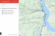 Her er ruta vi skal kjøre og så for vi høre at senior skal delta i Hamarløpet. Da ender vi begge opp i Biri, hvordan skal dette gå og hvem kommer først?