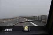 Det var ikke mye utsikt når vi kjørte over Minnesundbrua, tåken ligger lavt og tett