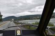 Men nå skal vi over Mjøsa igjen og er i Lillehammer