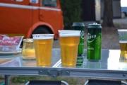 Digga litt størrelsesforskjellen på øl glassene, dameglass til venstre og herreglass til høyre