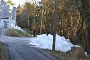 Her ser vi snø haugen, litt større denne gangen