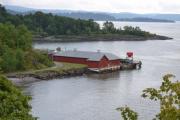 Hovedøya - Nå ser vi ned på Hovedøya der vi har toalett og greier