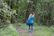 Hovedøya - Vi følger guiden vår, hun vet veien
