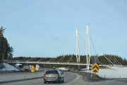 Her skal vi ta av mot Elverum, fint kjennemerke denne broen