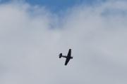 Morten 5 september 2020 - LN-TEX over Høyenhall. Flyet er lett å kjenne igjen på den svært karakteristiske lyden, noe som skyldes at tuppen på propellbladene bryter lydmuren og derfor hører jeg den alltid, så jeg kommer ikke for sent ut på verandaen