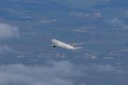 Morten 5 februar 2020 - Når du sitter oppe i et fly kan du også ta bilde av et fly. Dette må være Air France, men mer klarer jeg ikke å se