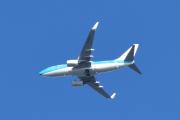 Morten 11 juli 2020 - PH-BGF over Høyenhall, det er et Boeing 737-7K2 som eies av KLM