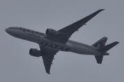 Morten 29 februar 2020 - Stort fly over Høyenhall, det er A7-BFC Qatar Cargo som er et Boeing 777-FDZ