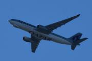 Morten 3 mai 2020 - A7-AFJ over Høyenhall, det er et Qatar Cargo Airbus A330-243F