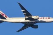 Morten 4 januar 2020 - Qatar Cargo over Høyenhall, men nå skjønner dere at store fly  er her på Høyenhall